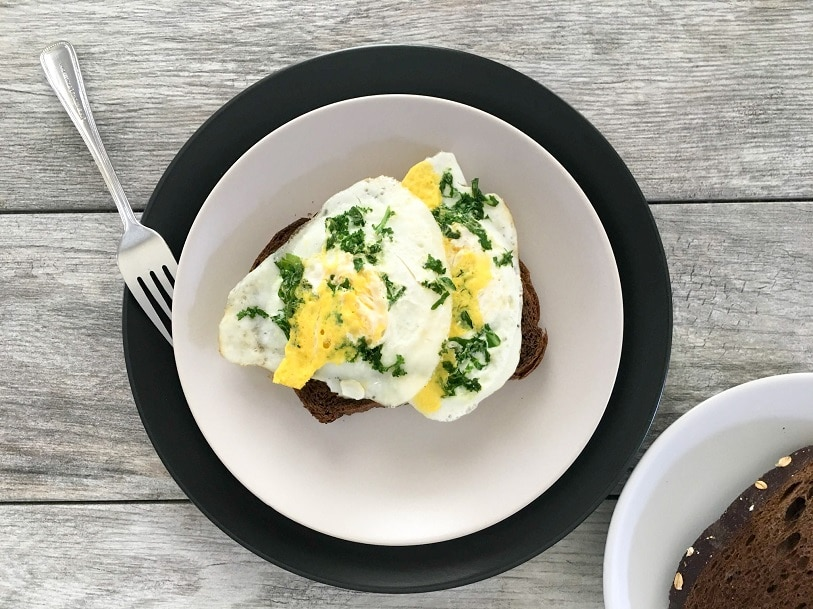 Fried Egg Kale Toast