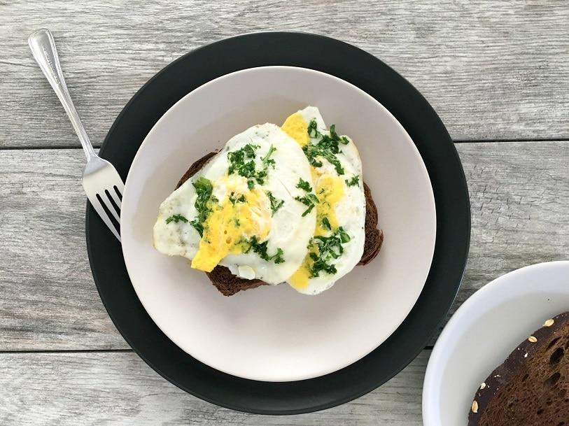 Fried Egg Kale Toast