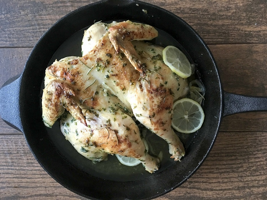 Oven Roasted Butterflied Chicken