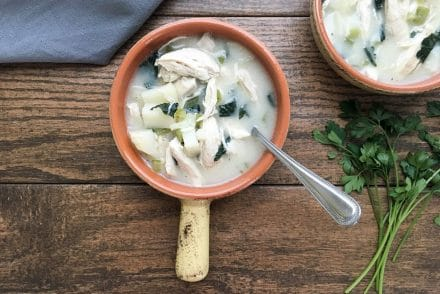 light chicken chowder