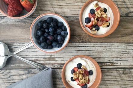 Candied Walnut Berry Yogurt