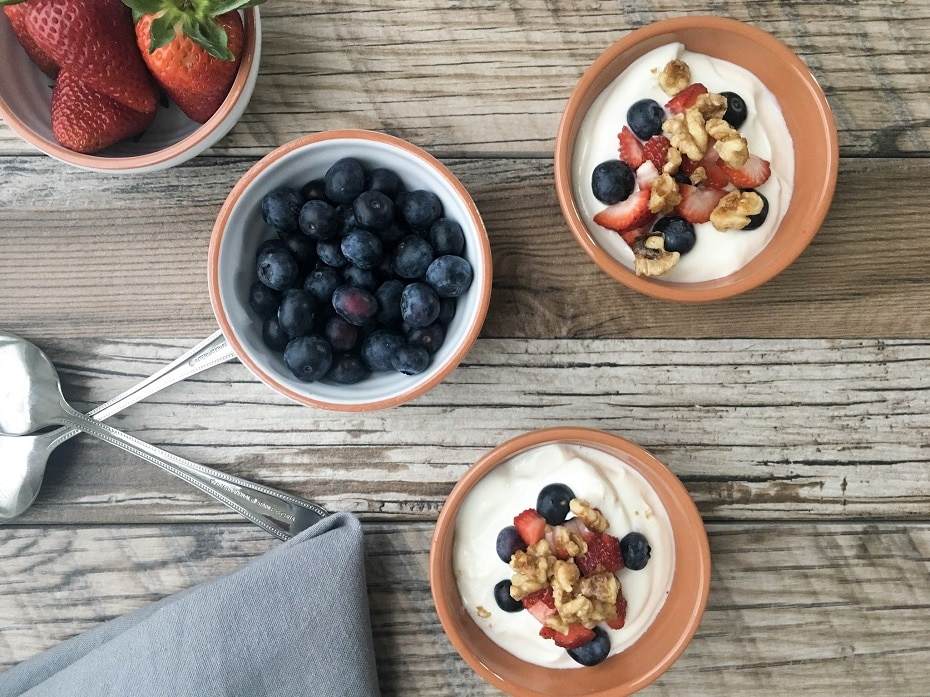 Candied Walnut Berry Yogurt