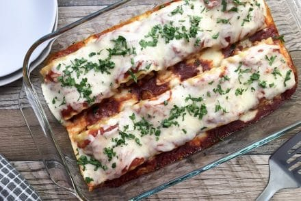 Ground Turkey Lasagna Rolls