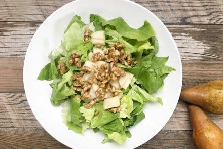 candied walnut pear salad