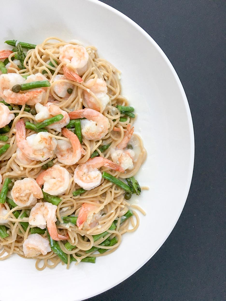 creamy shrimp asparagus pasta