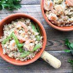 shrimp vegetable quinoa bowl