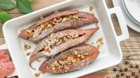 how to bake sweet potatoes fast