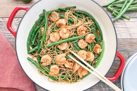 prawn stir fry with noodles