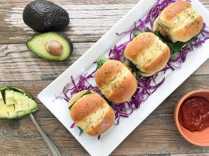 turkey burger sliders on hawaiian rolls