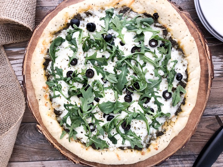 Pizza with Pesto Sauce
