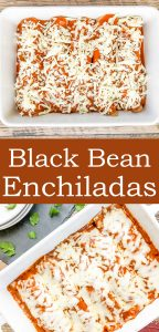 Bean Enchiladas - a quick and easy weeknight dinner. a healthy recipe that's made with black beans, store bought enchilada sauce and cheese.   cookingwithbliss.com
