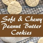 soft and chewy peanut butter cookies made with applesauce for pinterest