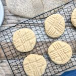 soft and chewy peanut butter cookies made with applesauce