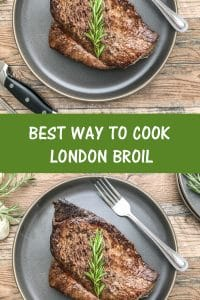 best way to cook london broil is to sear first