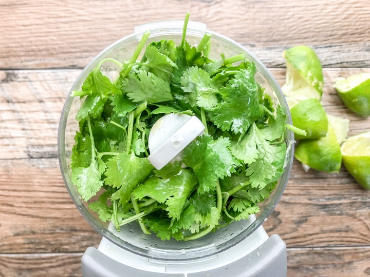 4 ingredient cilantro lime marinade step 1
