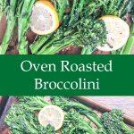 oven roasted broccolette recipe for pinterest upload