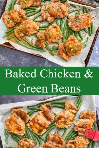 baked chicken and green beans