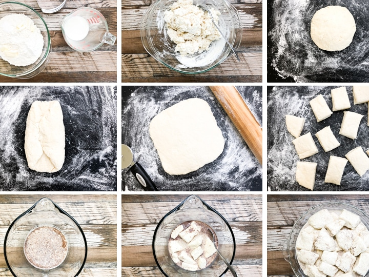step by step photos on how to make baked french toast casserole