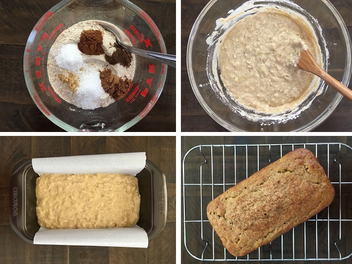 dry ingredients for making banana bread