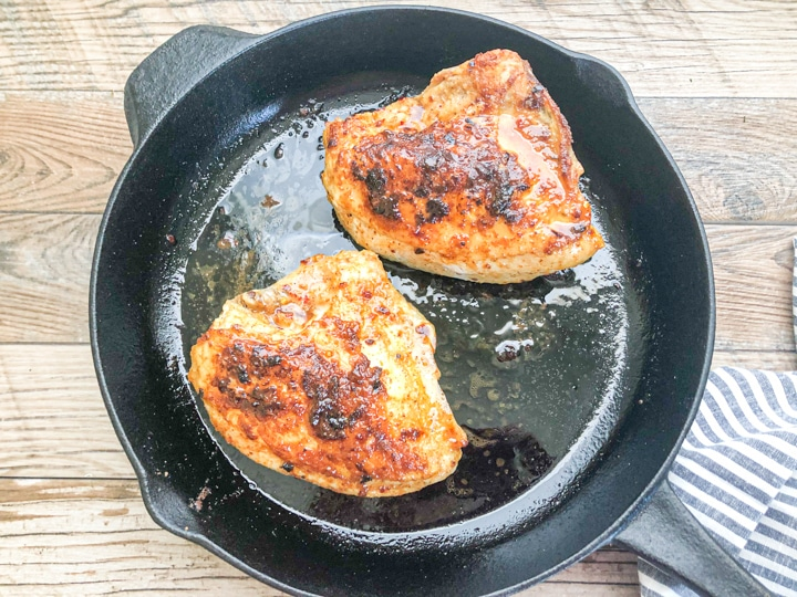 oven roasted chicken breast in cast iron skillet