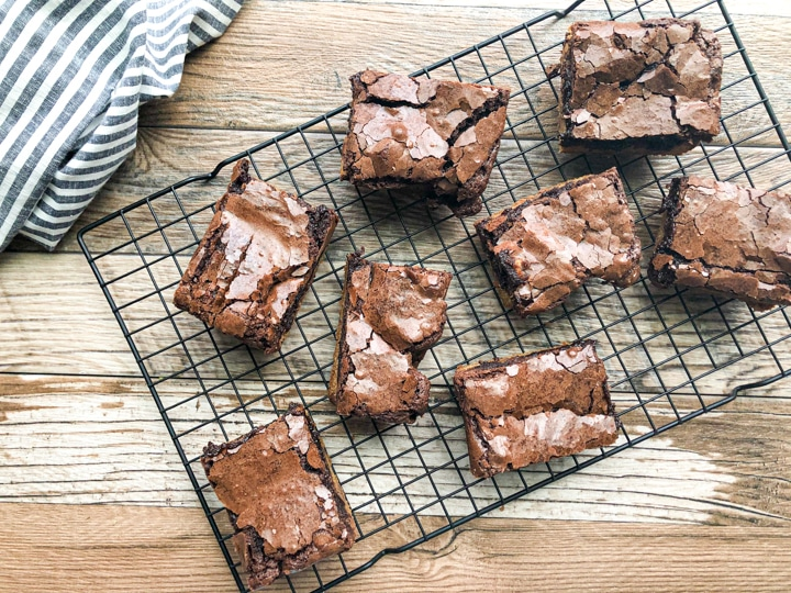 brownie cookie cooled and cut into squares