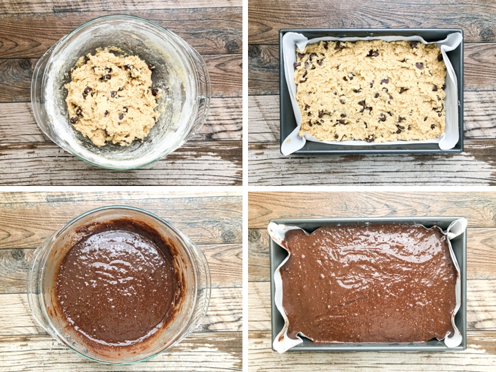 step by step illustration on how to make brownie cookies