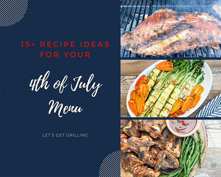 collection of recipe ideas for 4th of july