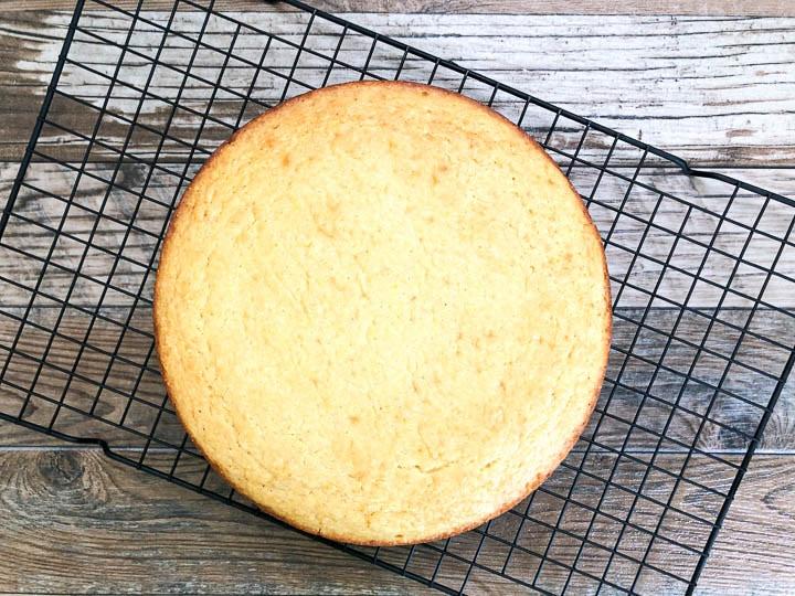 buttermilk cornbread on cooling rack