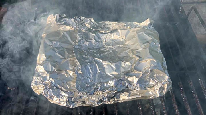 foil packet on grill
