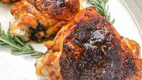 close-up image of roasted turkey thighs