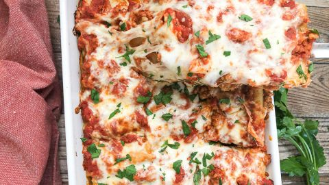 lasagna roll up with cheese pull
